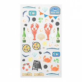 Midori Sticker Marché Collection - Seafood