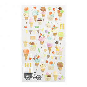 Midori Sticker Marché Collection - Ice Cream