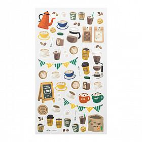Midori Sticker Marché Collection - Coffee