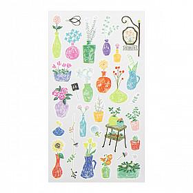 Midori Sticker Marché Collection - Flower Vases