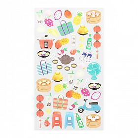 Midori Sticker Marché Collection - Taiwan
