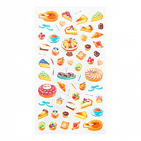 Midori Sticker Marché Collection - Tarts & Cakes