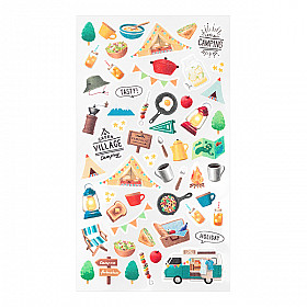 Midori Sticker Marché Collection - Camping