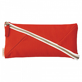 LIHIT LAB HINEMO Wide Open Pen Pouch - Groot - Red