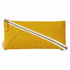 LIHIT LAB HINEMO Wide Open Pen Pouch - Groot - Yellow
