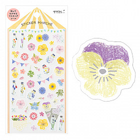 Midori Sticker Marché Collection - Flowers