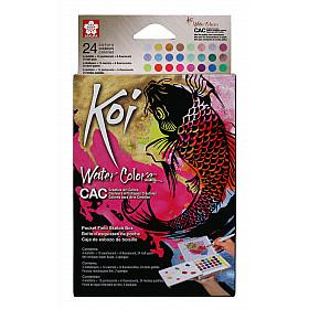 Sakura Koi Water Colors Brush Set - Metallic, Pearle & Fluo - 24 kleuren
