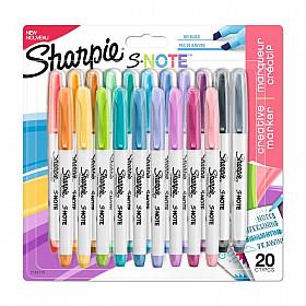 Sharpie S-Note Double Sided Tekstmarker - Fine & Bold - Set van 20