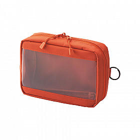 LIHIT LAB Smart Fit Clear Box Pouch - A6 Formaat - Oranje