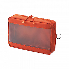 LIHIT LAB Smart Fit Clear Box Pouch - A5 Formaat - Oranje