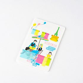 Hobonichi Omiya Yogashiten Translucent Sticky Notes