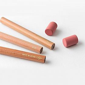 TRAVELER'S Company Brass Pencil Navulling (3 potloden en 2 gummetjes)