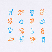 Hobonichi Shinsuke Yoshitake Today's Adventure Stamp (At Home)