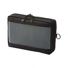 LIHIT LAB Smart Fit Clear Box Pouch - A5 Formaat - Zwart