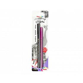 Pentel Twin Tip Brushpen XSFW34/1-A met GRATIS S360 Viltstift - Zwart