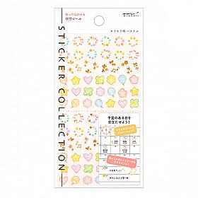 Midori Sticker Collection - Date - Shiny Twinkling Pastel