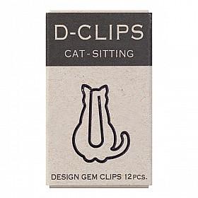 Midori D-Clips Mini - Sitting Cat