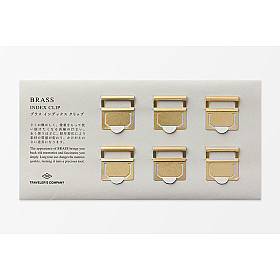 TRAVELER'S Company Brass Index Clip - Set van 6
