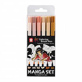 Sakura Koi Coloring Brush Pen - Manga Set Skin Tones - Set van 6