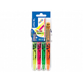 Pilot FriXion Light Textmarker - Set van 4 met Set 2 Go houder