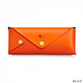 Kiruna Lederen Etui voor Pen en Zonnebril - Oranje