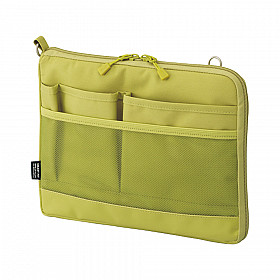 LIHIT LAB Smart Fit Bag in Bag - Horizontale Versie - A5 - Groen