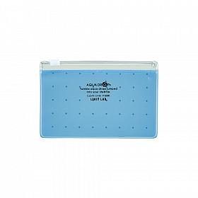 LIHIT LAB Aquadrops Clear Case Zipperbag - Maat A8 - Blauw