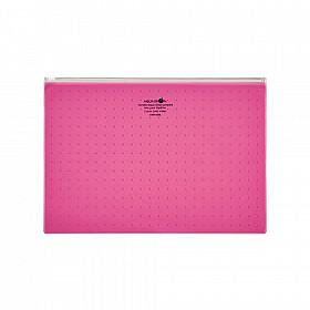 LIHIT LAB Aquadrops Clear Case Zipperbag - Maat A4 - Rood