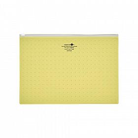 LIHIT LAB Aquadrops Clear Case Zipperbag - Maat A4 - Geel