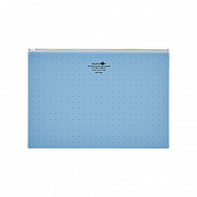 LIHIT LAB Aquadrops Clear Case Zipperbag - Maat A4 - Blauw