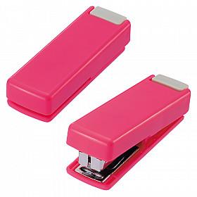 LIHIT LAB M-20 Opvouwbare Mini Nietmachine - 10 pagina's - Rood