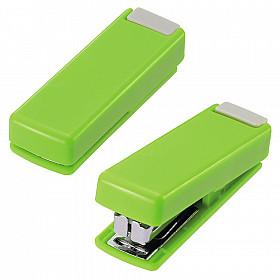 LIHIT LAB M-20 Opvouwbare Mini Nietmachine - 10 pagina's - Groen
