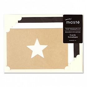 Mark's Japan With Maste Decoration - mini card set - Star