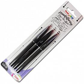 Pentel Handlettering Sign Pen Brush - Black Ink Edition - Set van 3