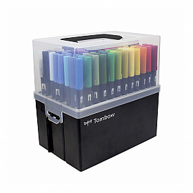 Tombow Dual Brush ABT - Set van 108 met bewaardoos / desk stand
