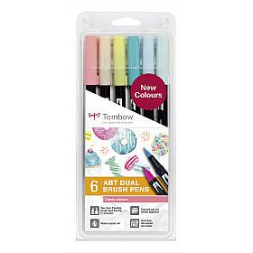 Tombow Dual Brush ABT (Set van 6) - Candy Colours