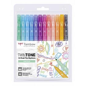 Tombow TwinTone Marker Set - Pastel Colours - Set van 12