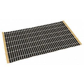JapanShop Bamboe Placemat - Zwart - Large - 47x28 cm