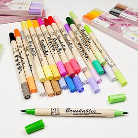 Kuretake ZIG Brushables Tweekleurige Brush Pen - 24 Kleuren (Los per stuk)