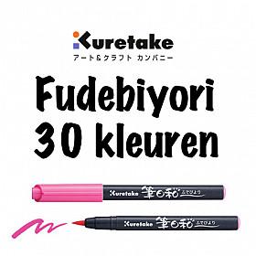 Kuretake Fudebiyori Brush Pen - 30 Kleuren (Los per stuk)