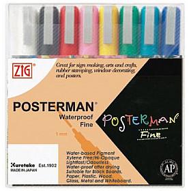Kuretake ZIG Posterman Sign Chalkmarker - Fijn - Set van 8