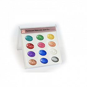 Kuretake Transparent Water Color Palette - 12 metallic kleuren