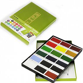 Kuretake Gansai Tambi Water Colours Brush Set - 18 kleuren