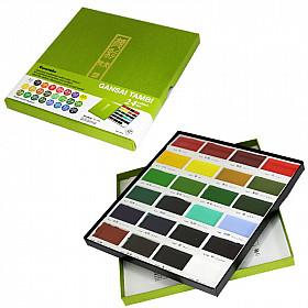 Kuretake Gansai Tambi Water Colours Brush Set - 24 kleuren