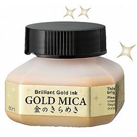 Kuretake Gold Mica Ink - 60 ml - Goud