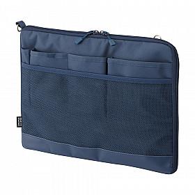 LIHIT LAB Smart Fit Bag in Bag - Horizontale Versie - A4 - Blauw