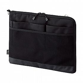 LIHIT LAB Smart Fit Bag in Bag - Horizontale Versie - A4 - Zwart