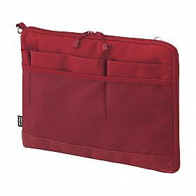 LIHIT LAB Smart Fit Bag in Bag - Horizontale Versie - A5 - Rood