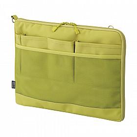 LIHIT LAB Smart Fit Bag in Bag - Horizontale Versie - A4 - Groen