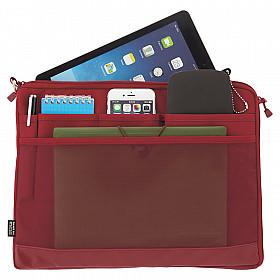 LIHIT LAB Smart Fit Bag in Bag - Horizontale Versie - A4 - Rood